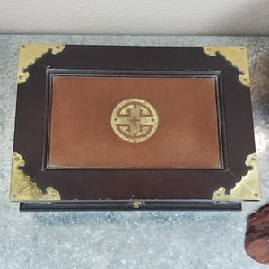 Antique Vintage wooden jewelry box